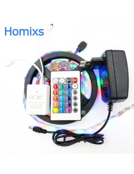 Non Waterproof Led Wholesaler 3528 Rgb Led Strip Light 5 M 300 Smd Led Stripe+24keys Controller+Adapter Or White Blue Redfree Ship by Homixs