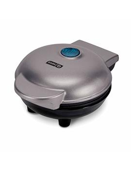 Dash Dmg001 Sl Mini Maker Portable Grill Machine + Panini Press For Gourmet Burgers, Sandwiches, Chicken + Other On The Go Breakfast, Lunch, Or Snacks With Recipe Guide   Silver by Dash