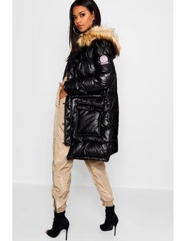 Matte Metallic Sporty Puffer Jacket by Boohoo