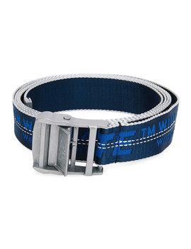 Men's Industrial Web Logo Belt   Silvertone Hardware by Off White