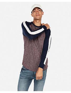 Loose Knit Marled Baseball Tee by Express