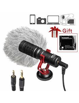 Boya 3.5mm Cardiod Mini Shotgun Microphone For I Phone 8 8 Plus 7 6 6s Ios Smartphone Mac Tablet Canon Dslr Camera Camcorder by Boya