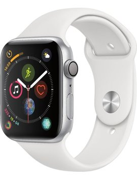 Apple Watch Series 4 (Gps), 44mm Silver Aluminum Case With White Sport Band   Silver Aluminum by Apple