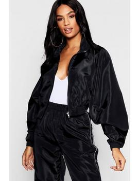 Tall Zip Through Panel Shell Jacket by Boohoo