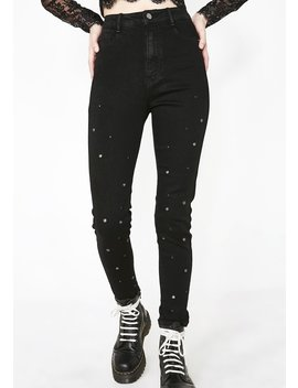 Holier Than Thou Grommet Jeans by Cest Toi