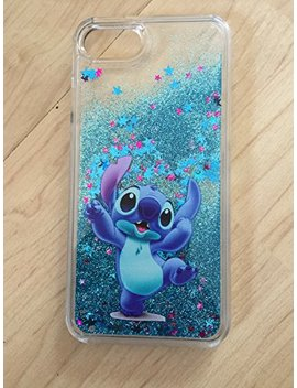 "Stitch Bling Sparkle Glitter Quicksand Case For I Phone 6/6s Plus 5.5"" Ship From Ny by Shopfromme"