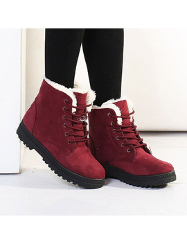 Winter Boots Women 2018 Hot Women Shoes Bota Feminina Plush Fur Warm Snow Boot Fenty Beauty Ankle Boots For Women Boots by Duoyang