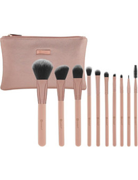 Online Only Pretty In Pink   10 Piece Brush Set With Cosmetic Bag by Bh Cosmetics