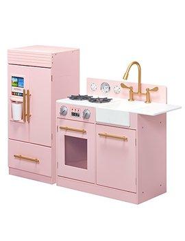 Teamson Kids   Td 12302 P Modern Play Kitchen With Ice Maker   Pink   Pre K 2 Pieces Kitchen by Teamson Kids