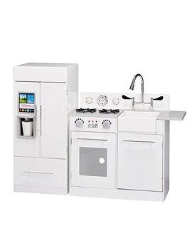 Teamson Kids   Td 12302 Wr Modern Play Kitchen With Ice Maker   White   Pre K 2 Pieces Kitchen by Teamson Kids