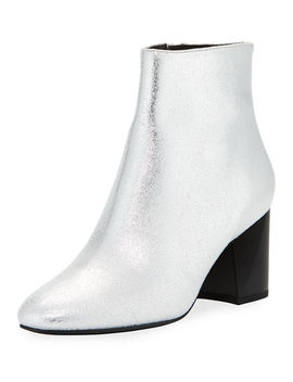 Hadlee Metallic Suede Booties by Kendall + Kylie