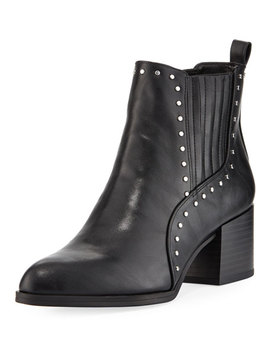 Jenna Flat Studded Leather Booties by Circus By Sam Edelman