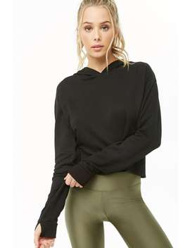 Active Hooded Tulip Back Fleece Top by Forever 21
