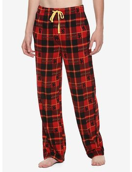 Harry Potter Gryffindor Plaid Guys Pajama Pants by Hot Topic
