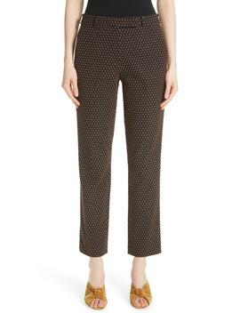 Dot Jacquard Straight Leg Pants by Etro