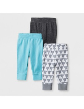Baby Boys' 3pk Geo Bright Pants   Cloud Island™ Charcoal Heather by Cloud Island