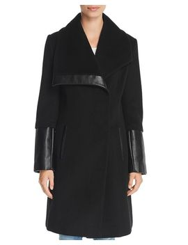 Oversized Collar Coat by Via Spiga