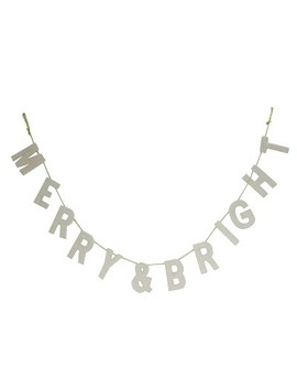 Merry & Bright Holiday Garland Sign   Wondershop™ by Shop This Collection