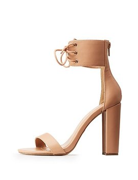 Lace Up Ankle Cuff Sandals by Charlotte Russe