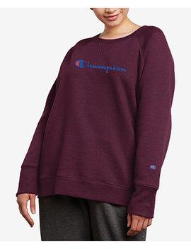Plus Size Powerblend Fleece Boyfriend Logo Sweatshirt by Champion