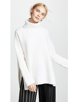 Lisbon Turtleneck Cashmere Sweater by Le Kasha