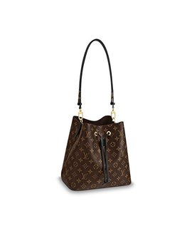 Neo Noe Style Monogram With Black Tightening And Strap Crossbody Shoulder Bag For Women Perfect To Hold Cash Cards Checkbook Keys Make Up Phone by Look At My Bags