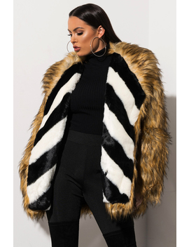 First Class Please Faux Fur Coat by Akira
