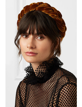 Braided Velvet Headband by Jennifer Behr