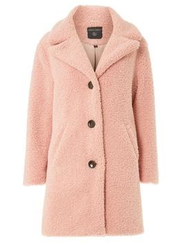 Blush Teddy Coat by Dorothy Perkins