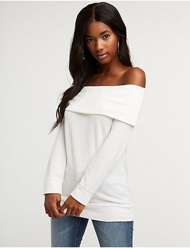 Off The Shoulder Pullover Top by Charlotte Russe