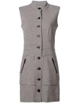 Sleeveless Houndstooth Dress by Veronica Beard