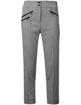Houndstooth Cropped Trousers by Veronica Beard