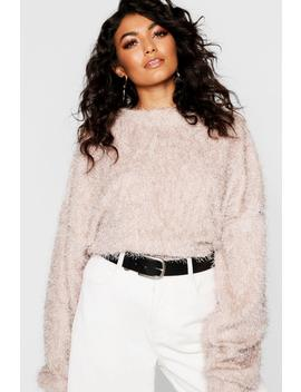 Oversized Fluffy Knit Jumper by Boohoo