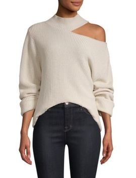 Langley Cutout Shoulder Sweater by Rt A