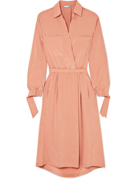 Washed Silk Shirt Dress by Vince