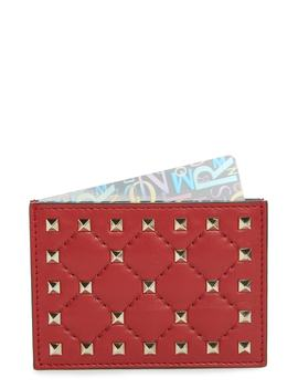 Rockstud Nappa Leather Card Case by Valentino Garavani