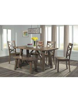 Picket House Furnishings Regan 6 Piece Rectangular Dining Table Set by Picket House Furnishings
