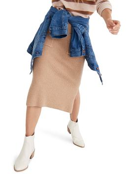 Patch Pocket Sweater Skirt by Madewell