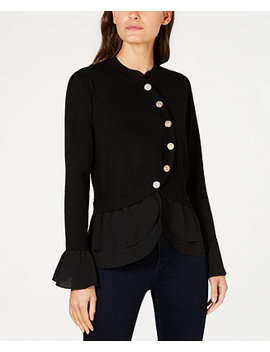 I.N.C. Tiered Sweater Jacket, Created For Macy's by Inc International Concepts