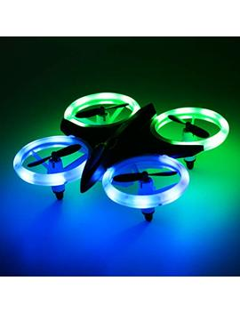 Rc Drone For Kids And Beginners, Mini Drones With Led Lights Rc Quadcopter Headless Mode 4 Chanel 6 Axis Gyro Steady Hold Height Helicopter For Boys Or Girls, Easy Fly For Training by Fitmaker