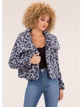 Hot Spots Leopard Faux Fur Coat by Go Jane