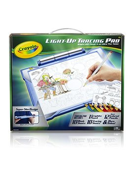 Crayola Light Up Tracing Pad Blue, Coloring Board For Kids, Gift, Toys For Boys, Ages 6, 7, 8, 9, 10 by Crayola