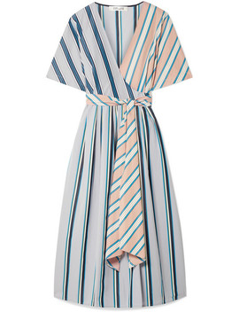 Striped Cotton Wrap Dress by Diane Von Furstenberg