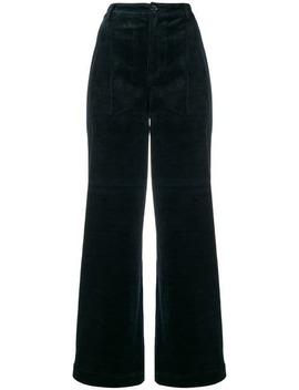 Wide Leg Corduroy Trousers by Ganni
