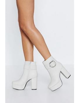 Below The Belt Platform Boot by Nasty Gal
