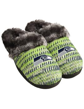 Nfl Women's Seattle Seahawks Peak Slide Slippers Nfl Women's Seattle Seahawks Peak Slide Slippers by Nfl