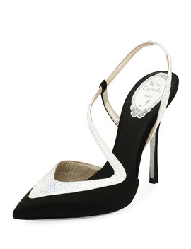 Asymmetric Satin 110mm Pumps by Rene Caovilla