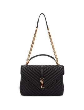 Black Large College Chain Bag by Saint Laurent