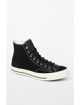 Converse Chuck 70 Camp High Top Black Suede Shoes by Pacsun