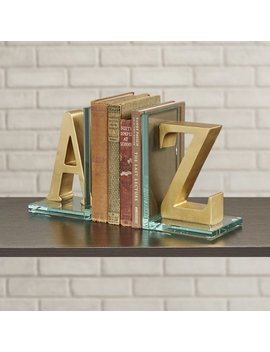Willa Arlo Interiors Christos A To Z Glass Book Ends & Reviews by Willa Arlo Interiors